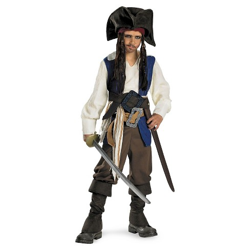 Pirates of the Caribbean Kids' Captain Jack Sparrow Costume - image 1 of 1