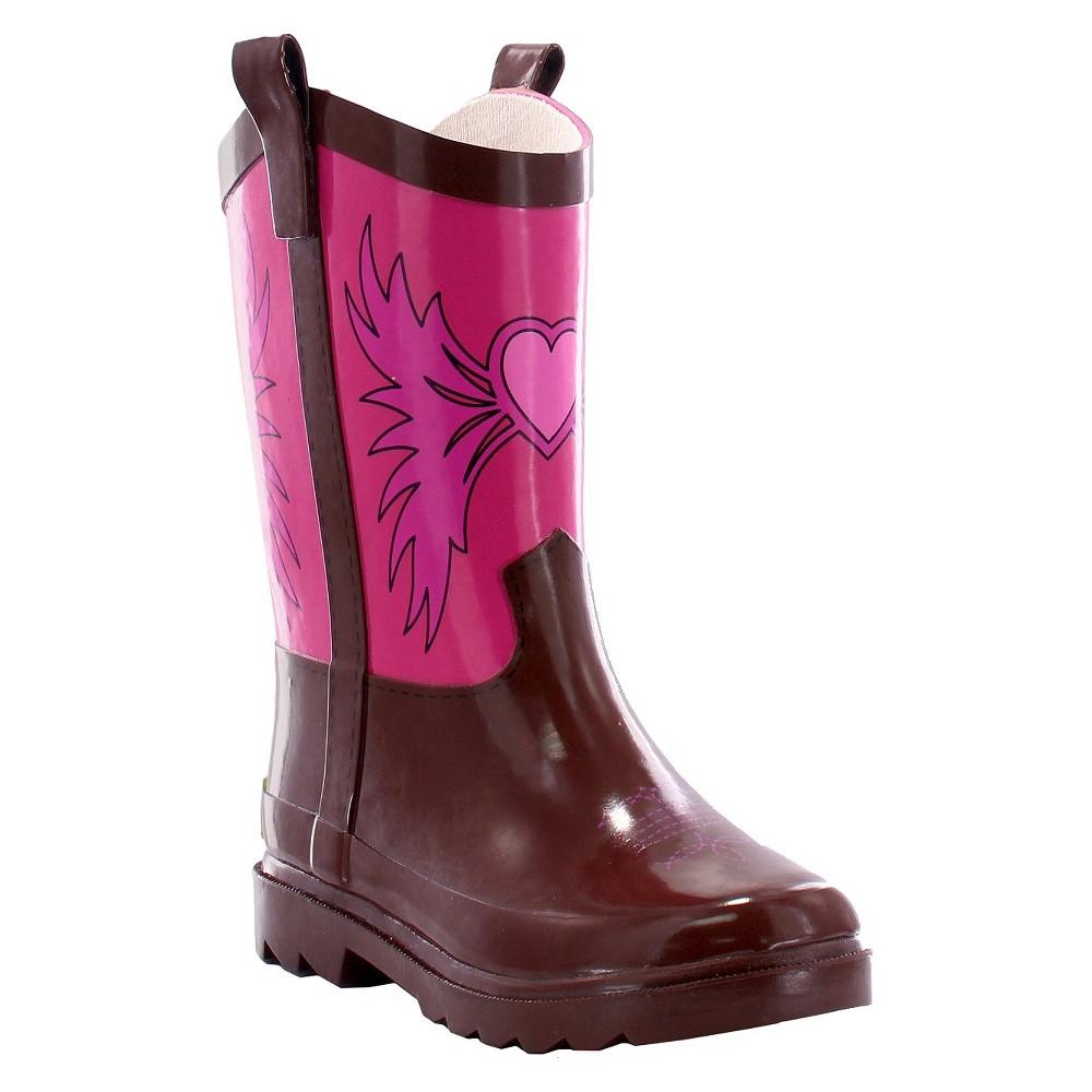 Western Chief Toddler Girls Western CowGirls Rain Boots - Pink 12