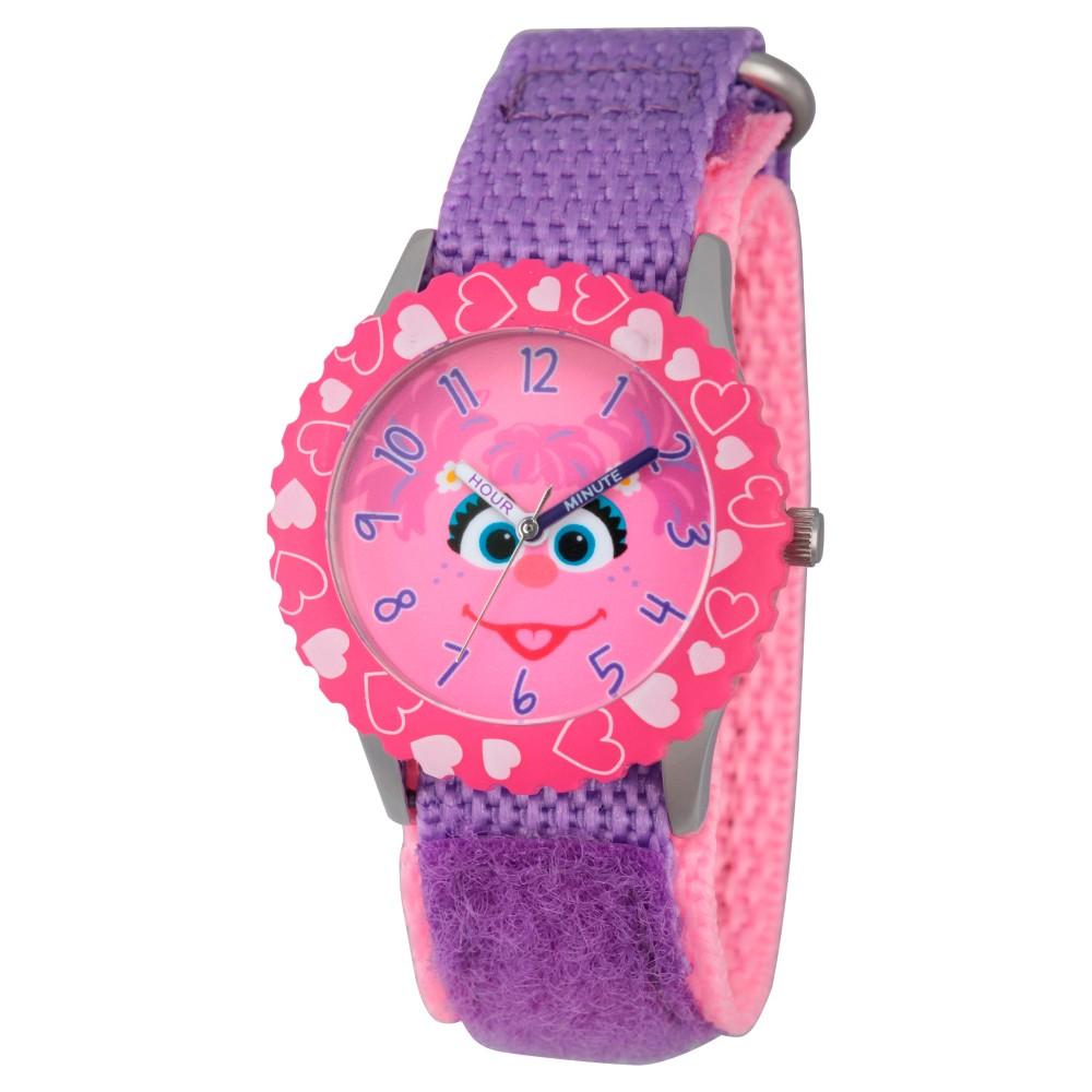 Sesame Street Stainless Steel Time Teacher Watch - Purple, Kids Unisex
