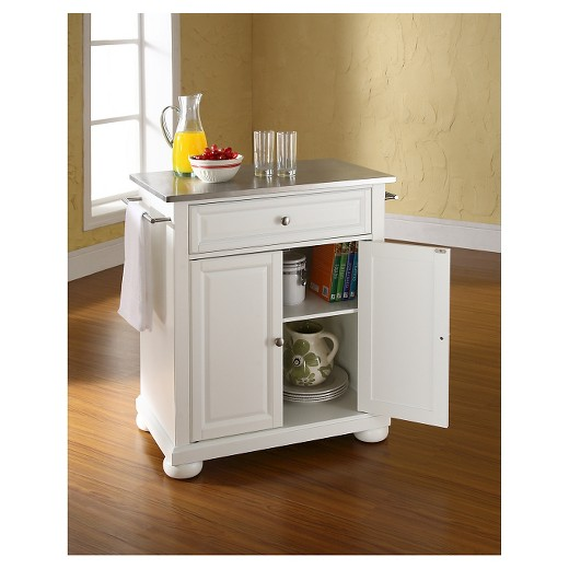target kitchen island white alexandria stainless steel top portable kitchen island white crosley target 6376