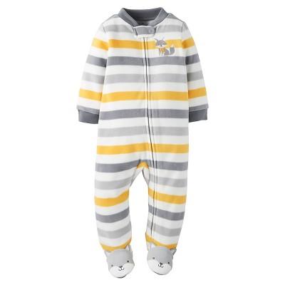 Just One You™ Made by Carter's® Baby Boys' Fleece Sleep N' Play - Multi Stripe Fox 9M