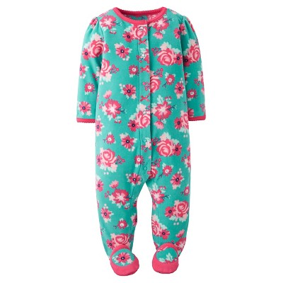 Just One You™ Made by Carter's® Baby Girls' Fleece Sleep N' Play - Blue Floral 3M