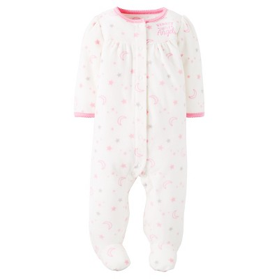 Just One You™ Made by Carter's® Baby Girls' Fleece Sleep N' Play Mommy's Little Angel NB