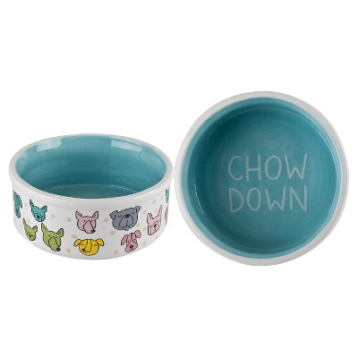 Housewares International Anne Was Here Puppy Dot Food Bowl - 6 in.