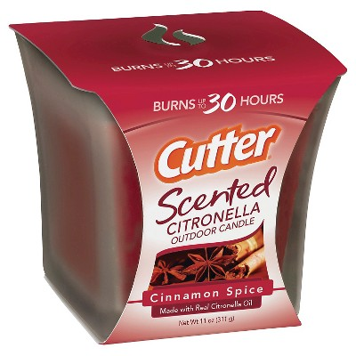 Cutter® Scented Citronella Outdoor Candle - Cinnamon Spice