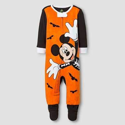 Disney® Mickey Mouse Footed Sleeper - Black