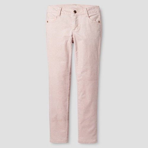 Girls' Corduroy Skinny Pant Cat & Jack - Glitter Pink 4, Girl's