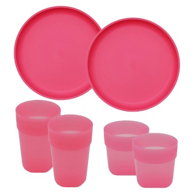 Pink-Kid's Tableware Set 6pc - Pillowfort™