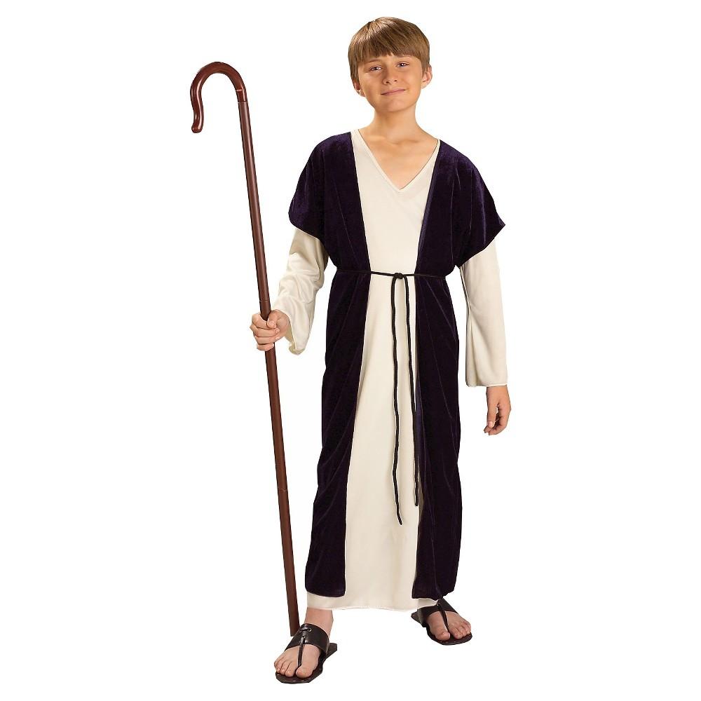 Kids Shepherd Costume M(7-8), Kids Unisex, Brown