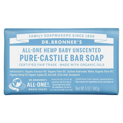 Dr. Bronner's Baby-Unscented Bar Soap - 5oz