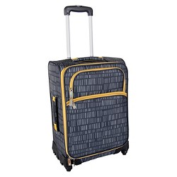 "Lotta Jansdotter 26"" Spinner Checked Suitcase - Anni Gray"