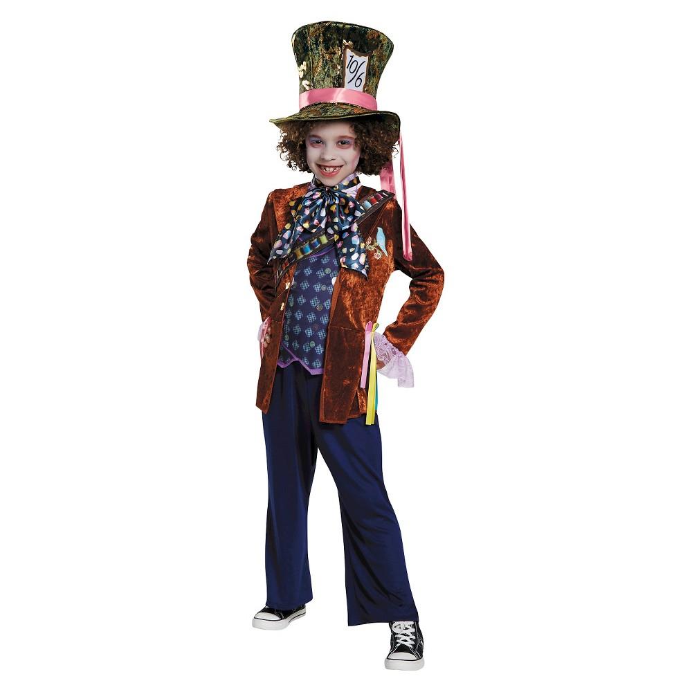 Mad Hatter Deluxe Kids' Costume Alice in Wonderland - Medium, Boy's, Size: M(8-10), Multicolored