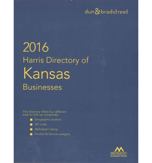 Harris Directory of Kansas Businesses 2016 (Paperback) - image 1 of 1