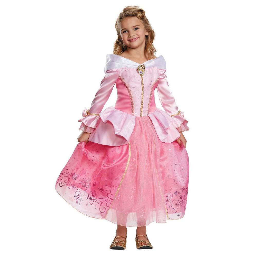 Girls Disney Storybook Aurora Prestige Toddler/Child Costume - S, Size: S(4-6), Pink