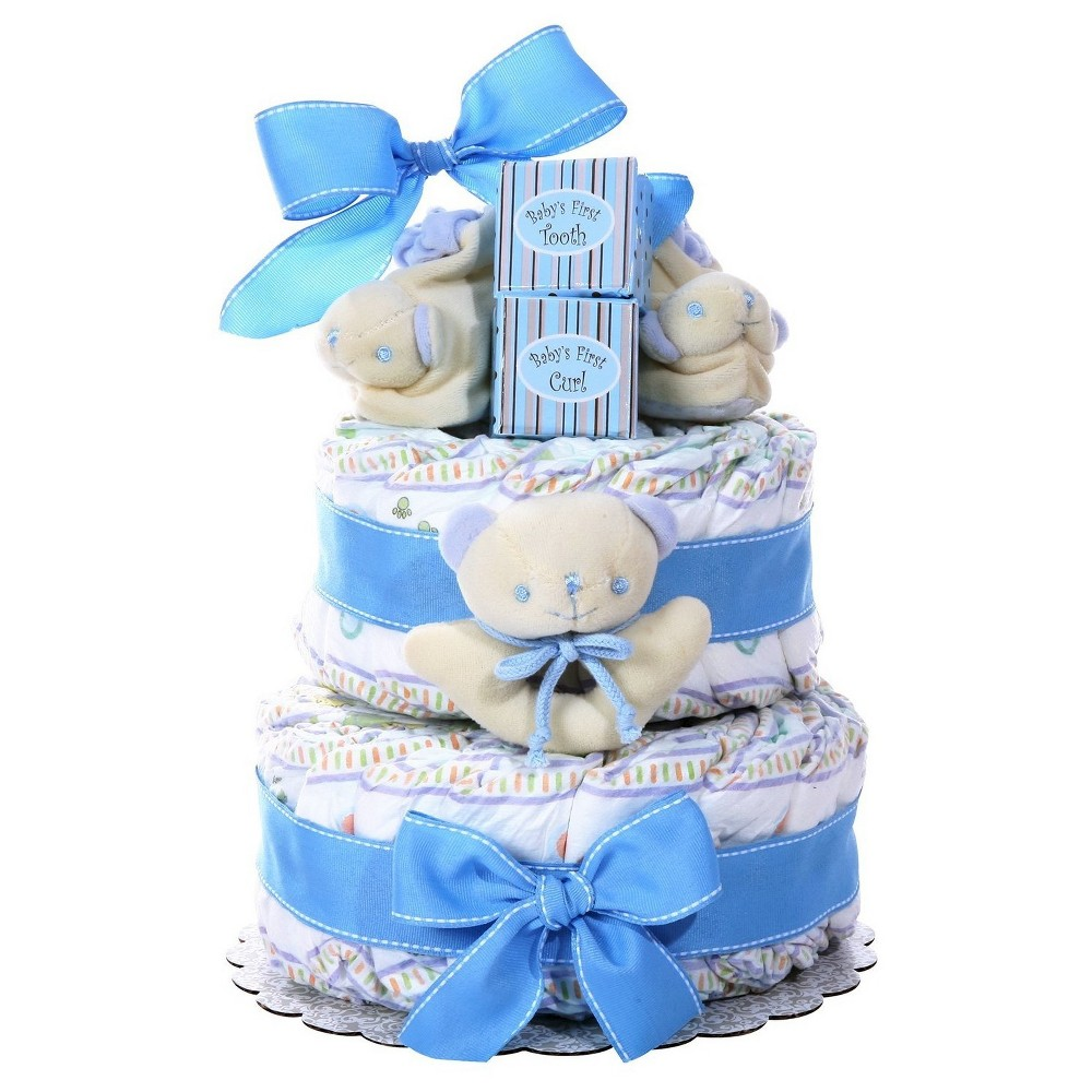 Alder Creek Baby Cakes 2 Tier Diaper Cake, Boy