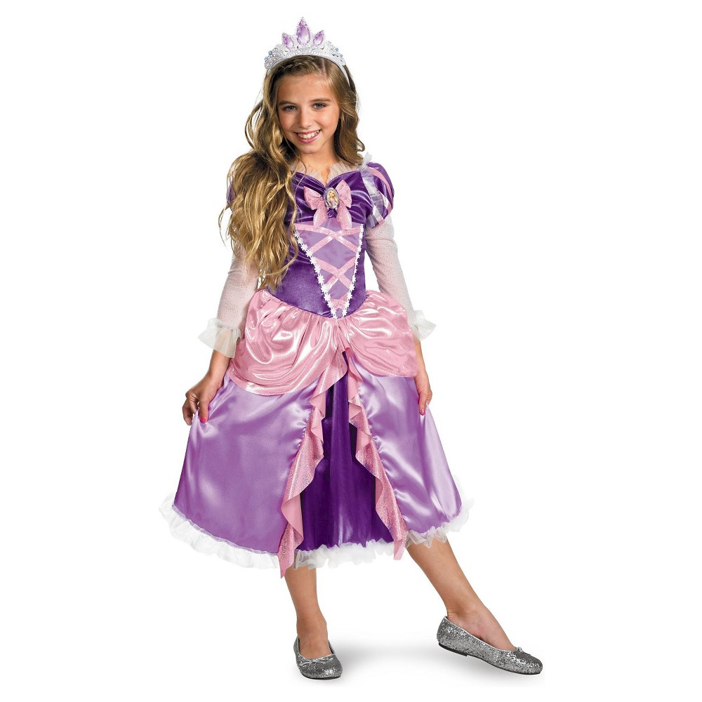 Rapunzel Tangled Girls Deluxe Toddler Child Costume - M, Size: M(8-10), Purple