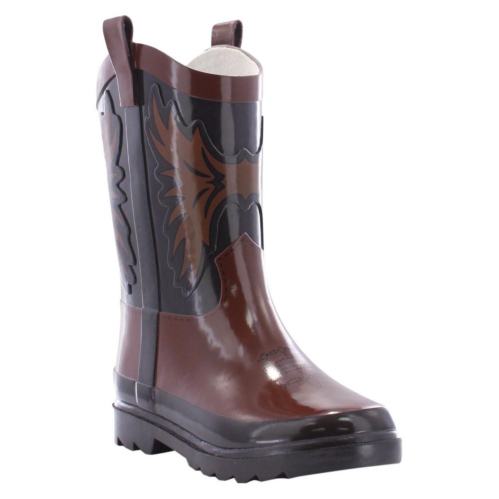 Western Chief Toddler Boys Western Cowboys Rain Boots - Brown 10