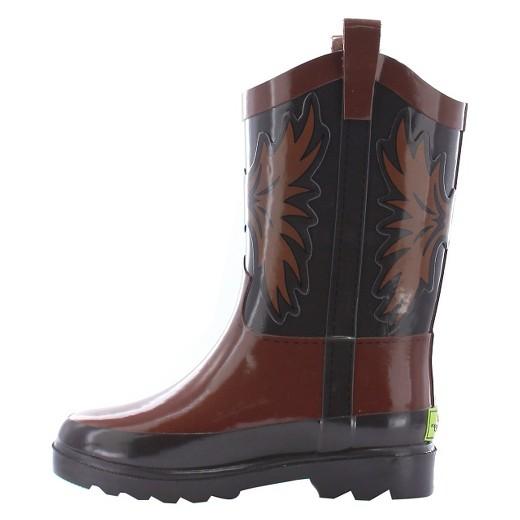 Toddler Boy Western Cowboy Rain Boot Brown - Western Chief : Target
