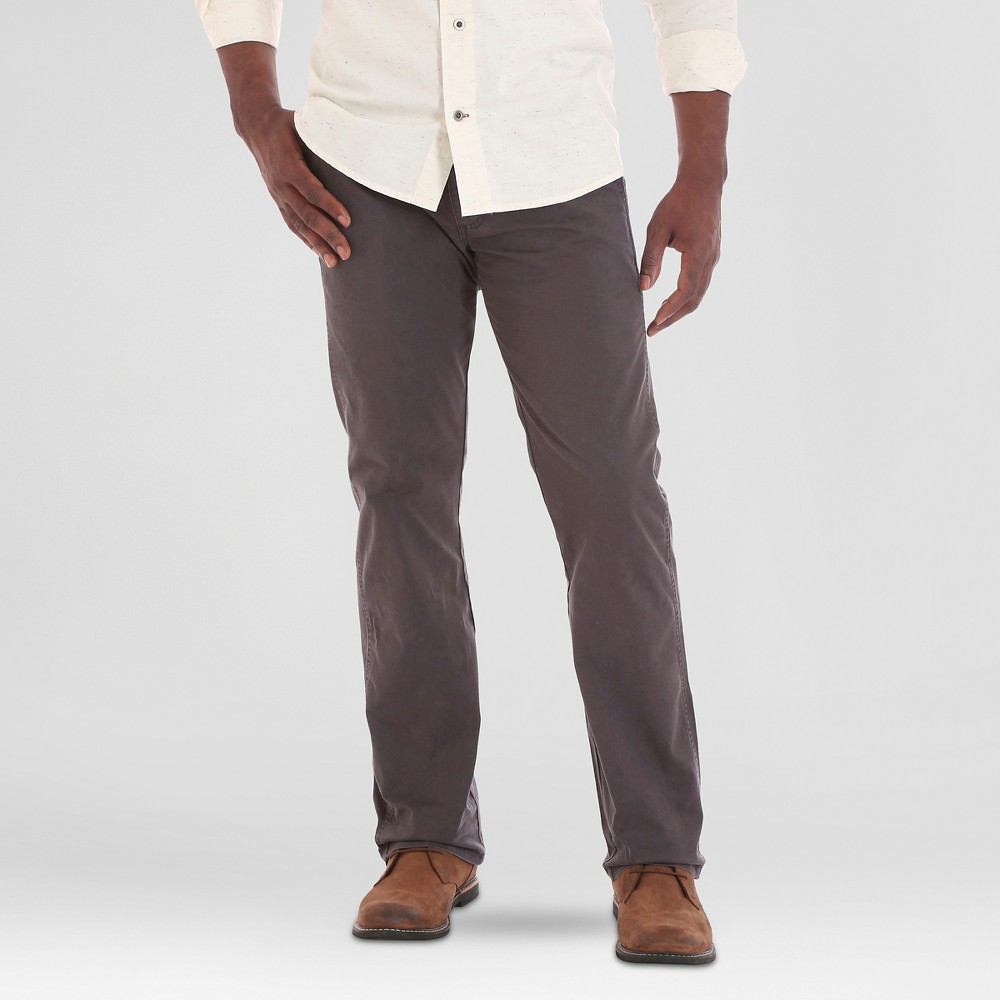 Crafted by Lee Mens Stretch Twill Pants Smoke (Grey) 33x30