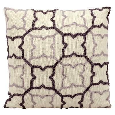 Plum Purple Stars Throw Pillow (18 x18 )- Nourison