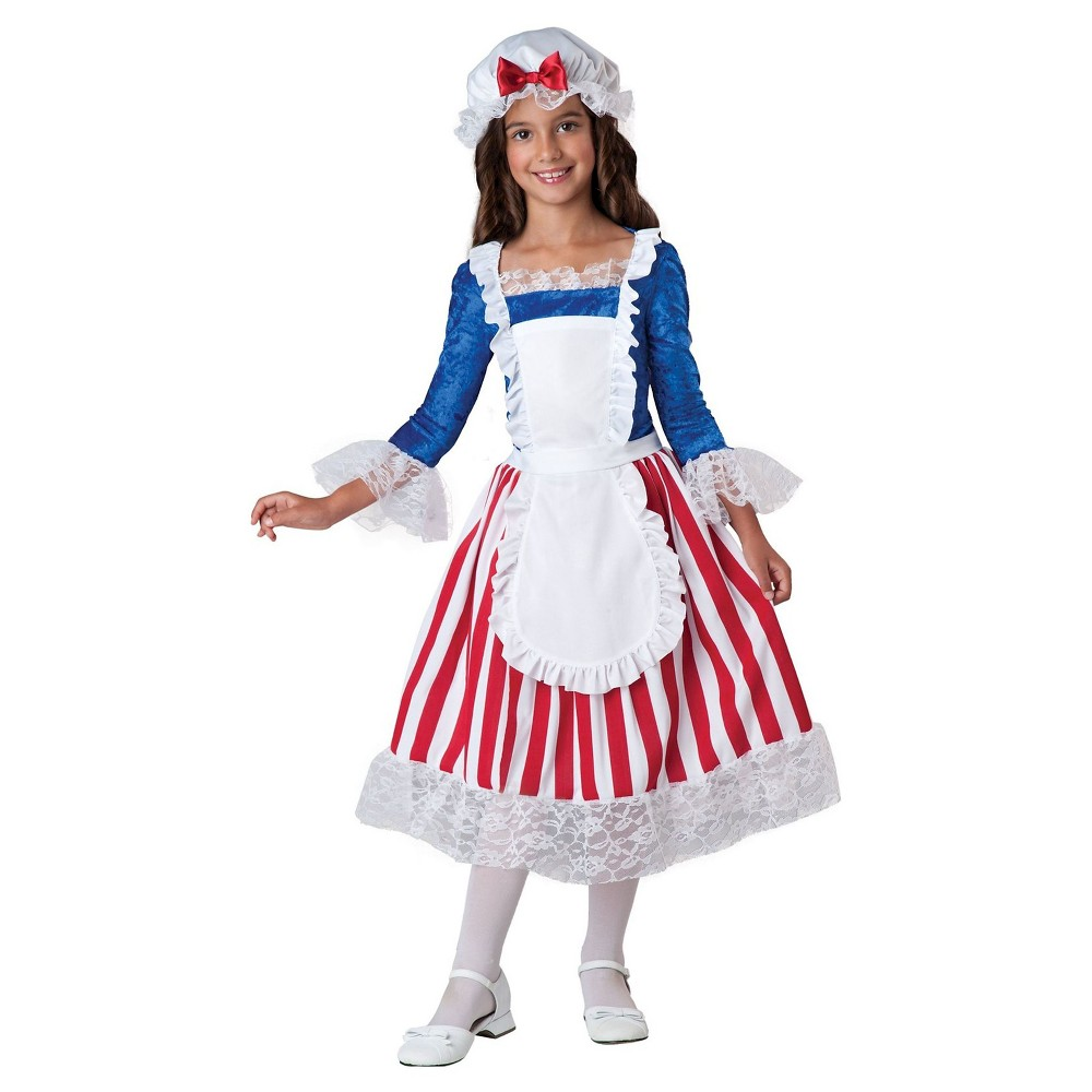 Girls Betsy Ross Child Costume L(12-14), Red