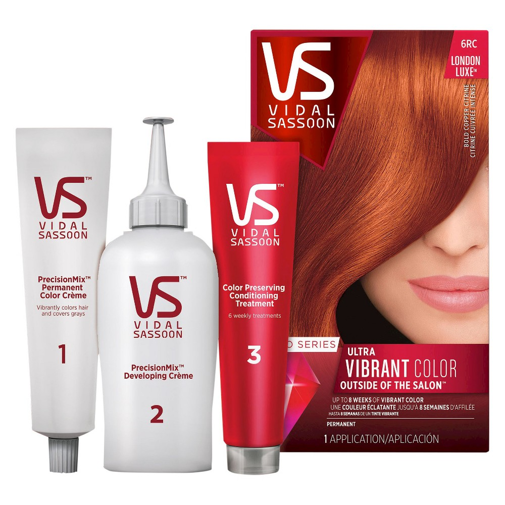 Vidal Sassoon Pro Series Permanent Hair Color - 6RC Bold Copper Citrine -1 kit