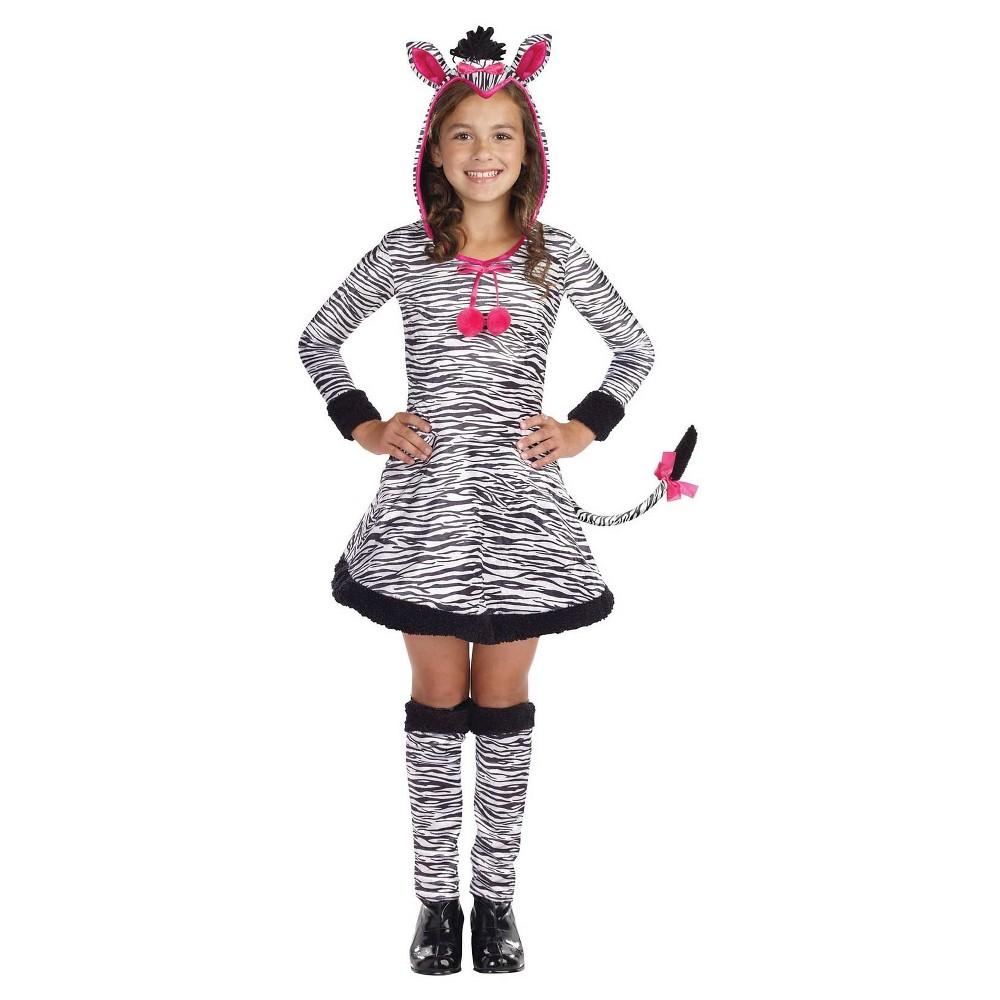 Girls' Lil' Wild Thang Zebra Child Costume - L(12-14), Black
