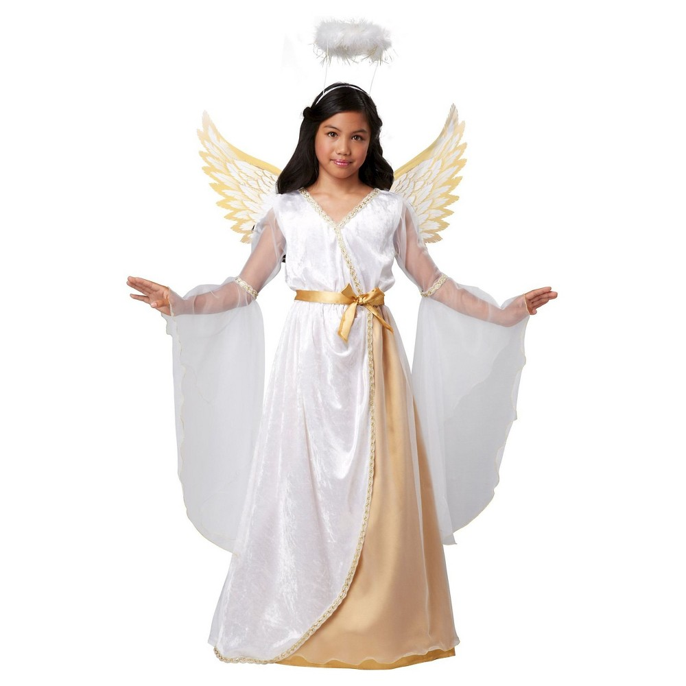 Girls Guardian Angel Child Costume - Small (4-6), Size: S(4-6), White