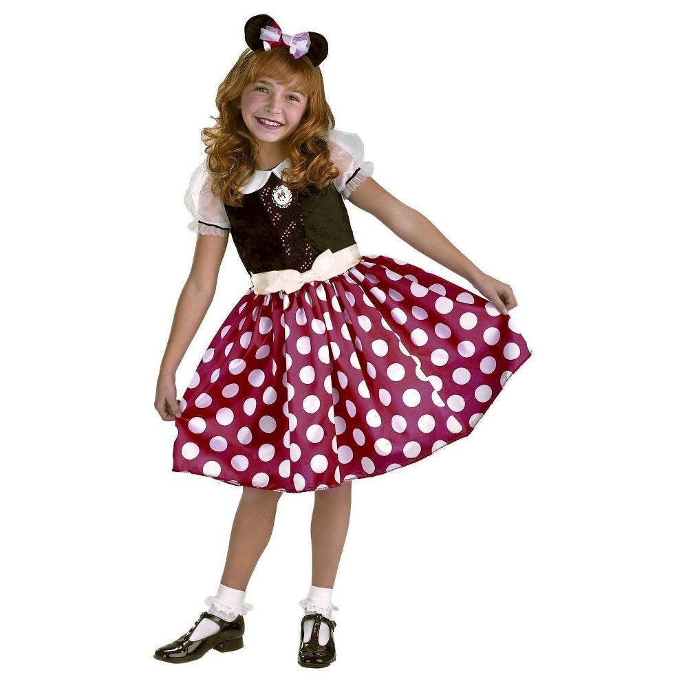 Minnie Mouse Girls Costume - L(10-12), Black