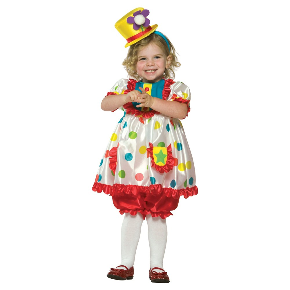 Clown Girl Toddler Costume - (3T-4T), Red