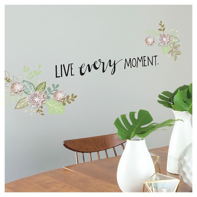 paper riot washed floral dimensional wall decals - Wall Decals
