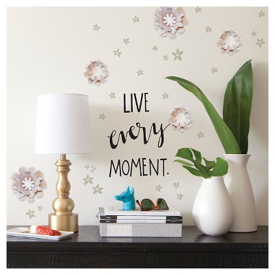 Paper Riot Washed Floral Dimensional Wall Decals Part 53