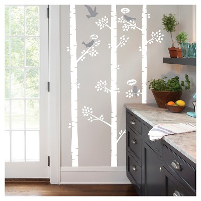 paper riot birch tree jumbo wall decals
