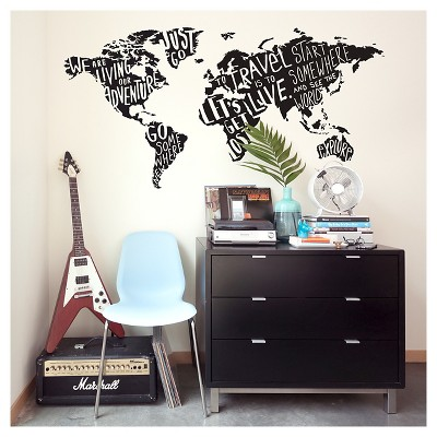 paper riot type world jumbo wall decals