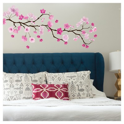 paper riot pink cherry blossom jumbo wall decal