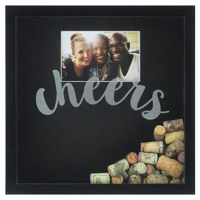 Cheers Shadowbox with Photo 12x12