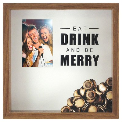 Eat, Drink & Be Merry Shadowbox with Photo 12x12