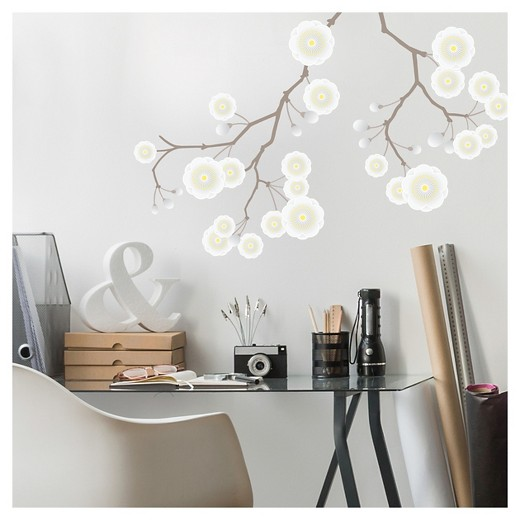 Target Star Wall Decor : Paper riot white plum blossom branch large playbook wall