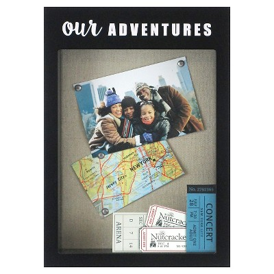 Our Adventures Shadowbox With Pinboard