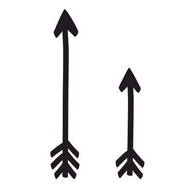 Paper Riot Arrows Small Playbook Wall Decals Part 51