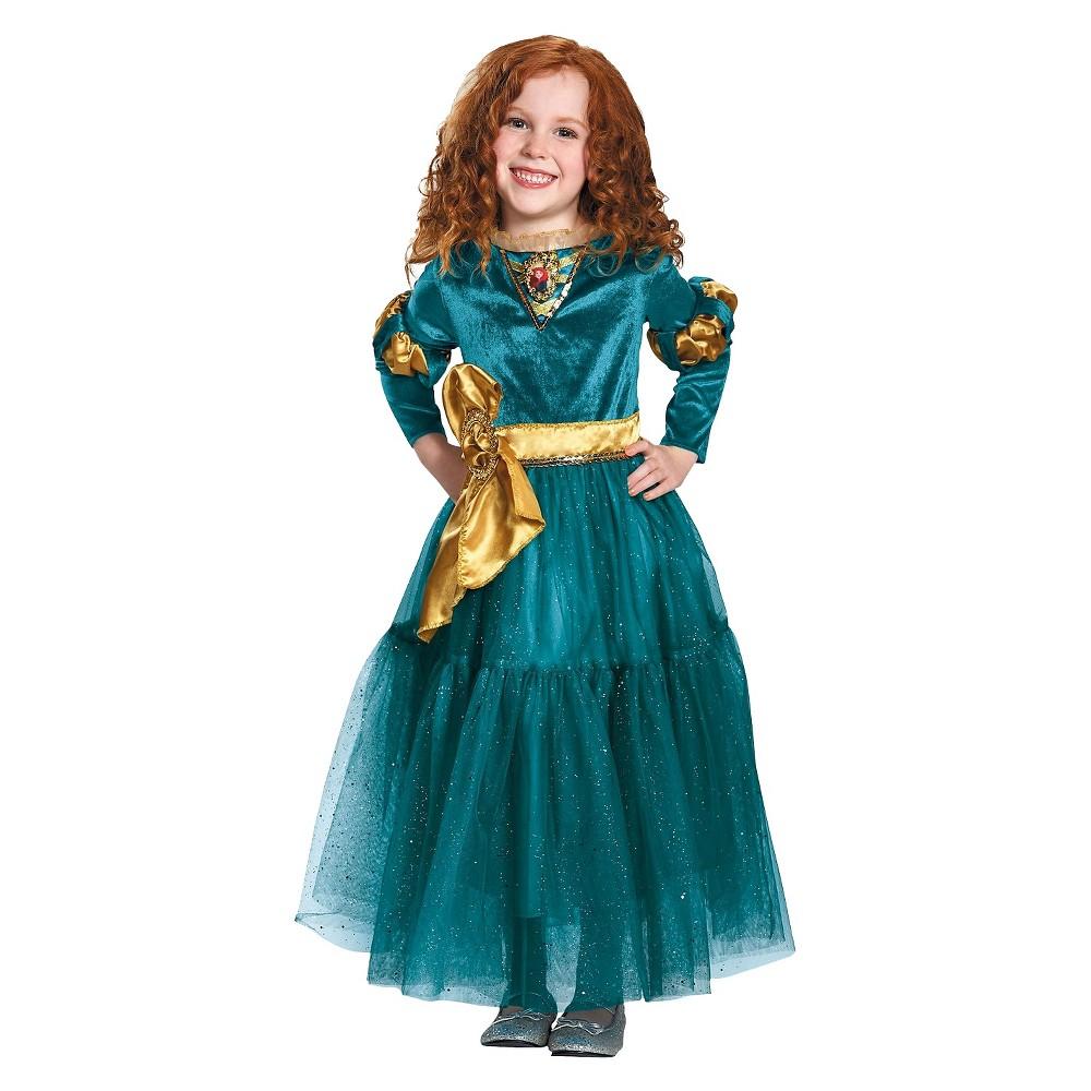 Girls Merida Deluxe Child Costume - M, Size: M(8-10), Multicolored
