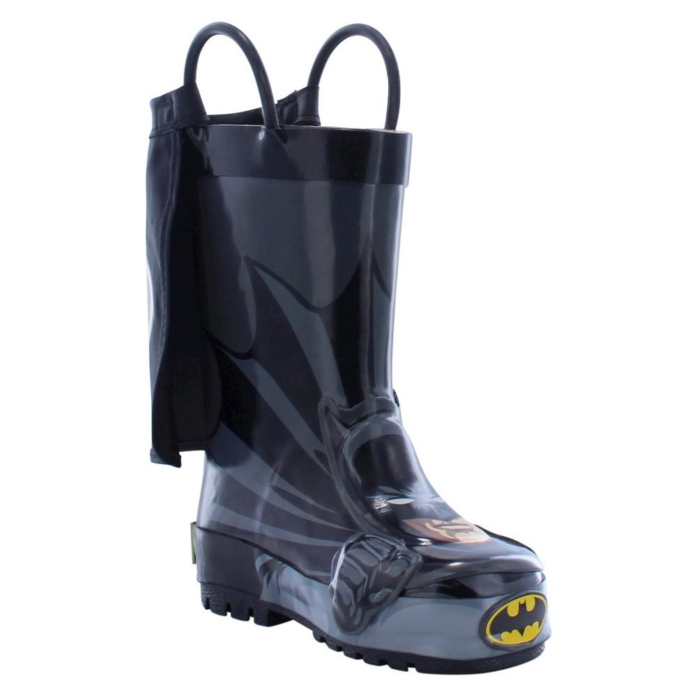 Batman Toddler Boys Rain Boots - Black 6