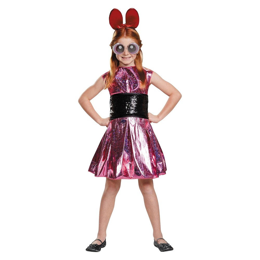 Girl's Powerpuff Girls Blossom Deluxe Child Costume - M, Size: M(8-10), Multicolored