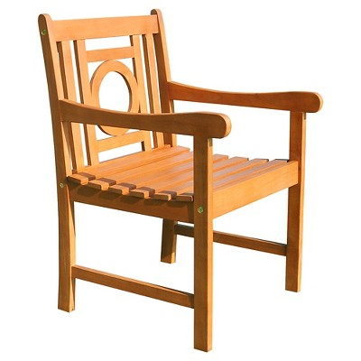 Vifah Malibu Eco Friendly Outdoor Hardwood Garden Arm Chair