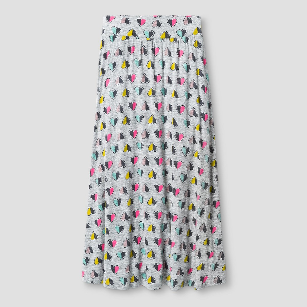 Girls Knit Maxi Skirt Heather Gray - Cat & Jack S