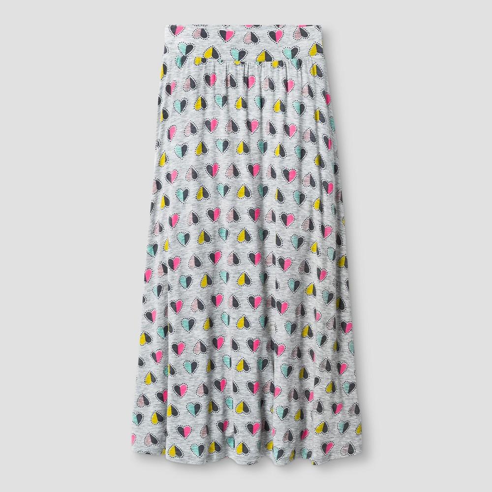Girls Knit Maxi Skirt Heather Gray - Cat & Jack M