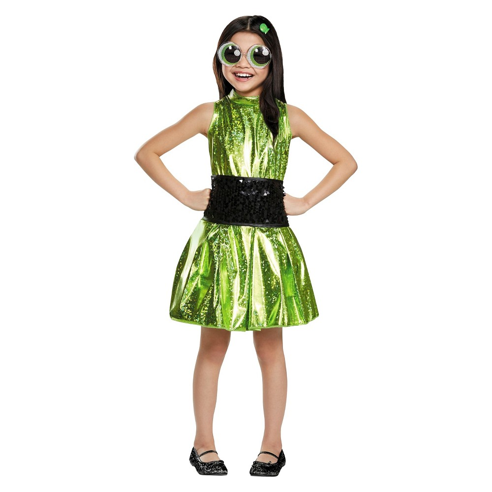 Girls Powerpuff Girls Buttercup Deluxe Child Costume - S, Size: S(4-6), Multicolored