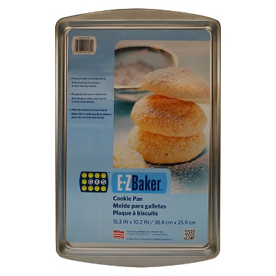 EZ Baker 15 x 10 Inch Medium Cookie Pan - Gray