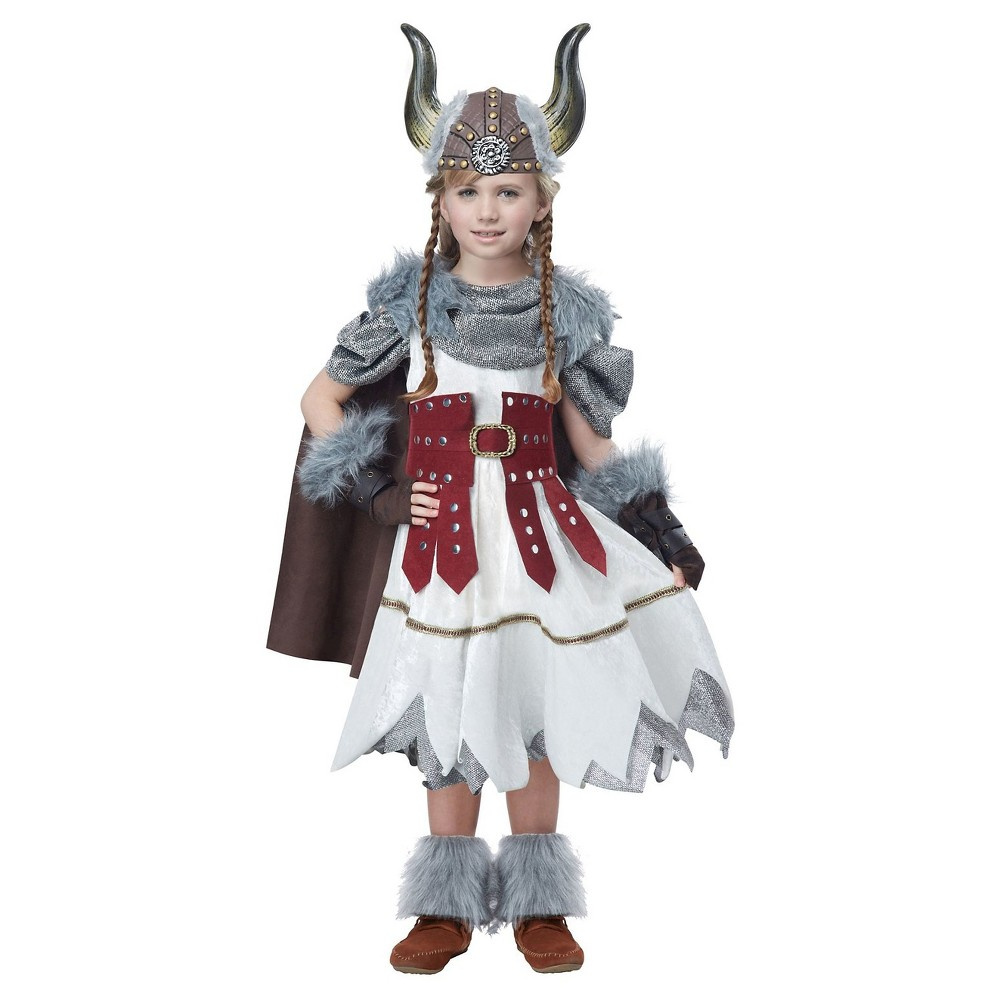 Girls Viking Girl Child Costume L(12-14), Multicolored