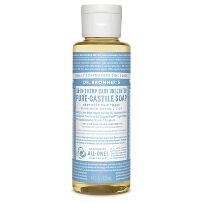 Dr. Bronner's Baby Unscented Liquid Castille Soap - 4oz
